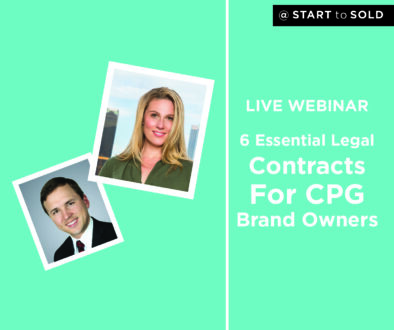 Contract Essentials For CPG Brand Owners - Product Small Business Legal Advice 101 (live webinar)
